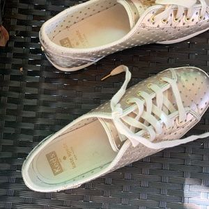 Kate Spade keds perforated gold color size 7